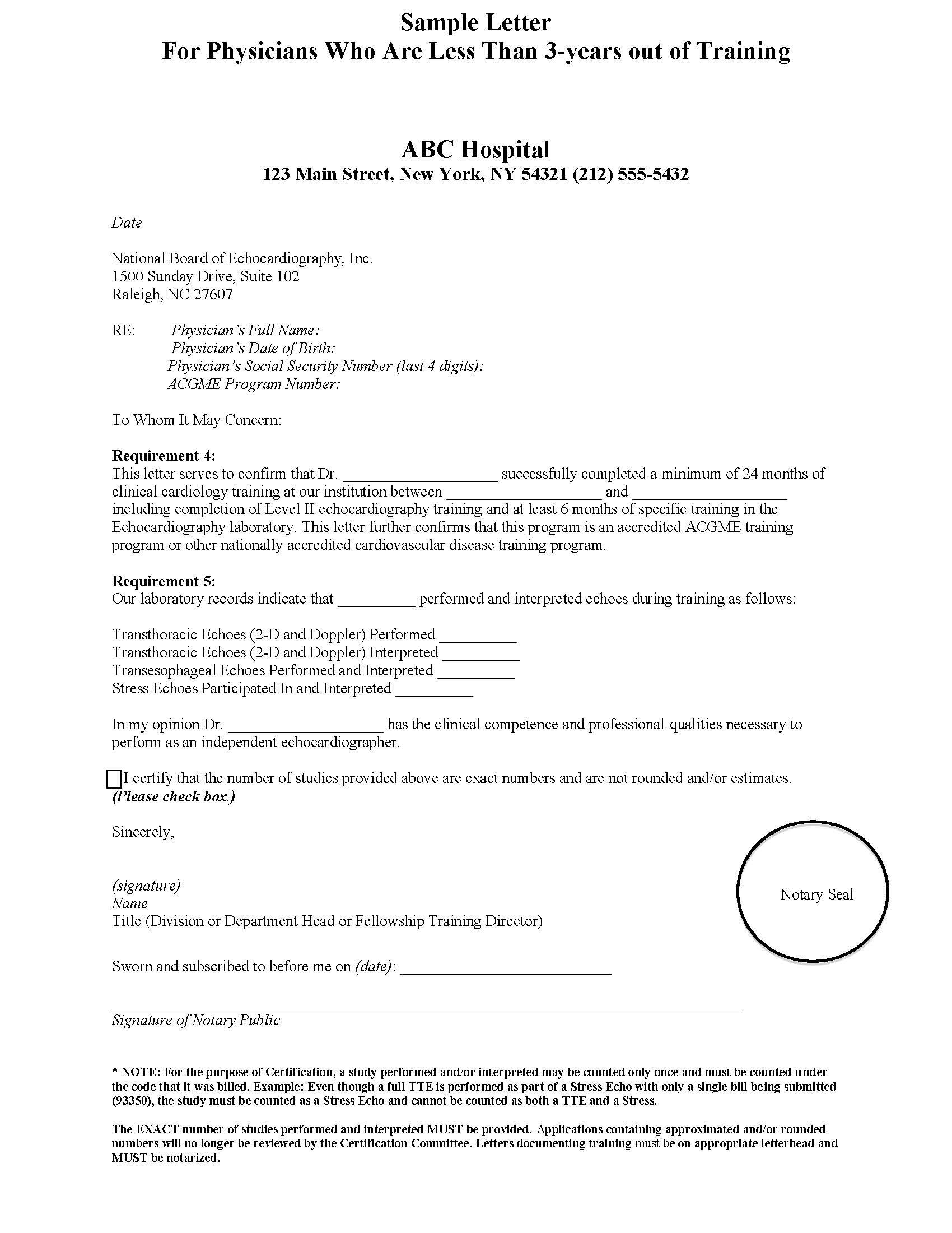 Certification sample letters for Certification document template