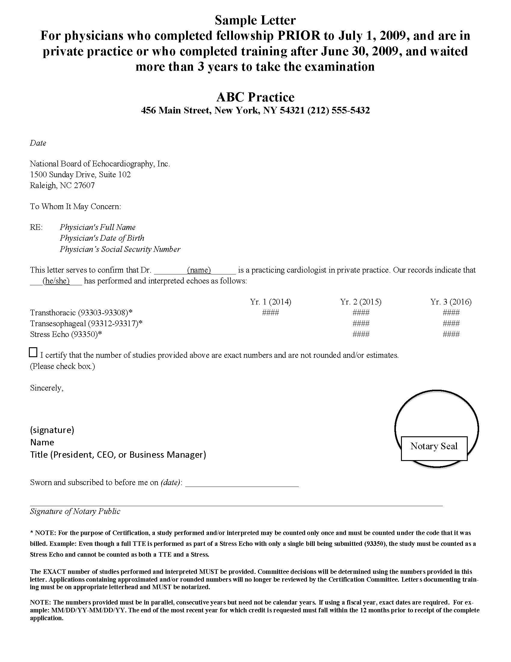 Certification sample letters private practice xflitez Gallery